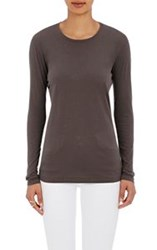 Barneys New York Crewneck Long Sleeve T Shirt Black