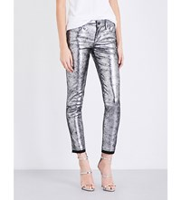 Rta Prince Skinny Metallic Leather Jeans Slopes