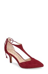 Sole Society Women's Dree Pump Crimson Suede