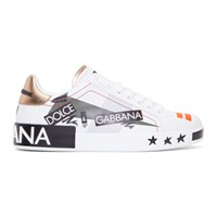 Dolce And Gabbana White 'Millennials' Sneakers