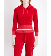 Juicy Couture Cropped Velour Hoody Regal