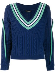 Y Project Cable Knit Jumper Blue