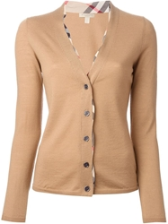 Burberry Brit V Neck Cardigan Nude And Neutrals