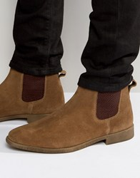 Kg By Kurt Geiger Guildford Chelsea Boot In Tan Suede