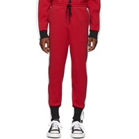 Miharayasuhiro Red Side Stripe Track Pants