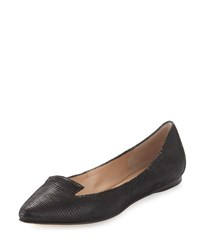 Belle By Sigerson Morrison Vero Pointed Toe Flat Black