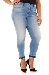 Rebel Wilson X Angels Plus Size Women's The Cruiser Ankle Skinny Jeans Arcadia