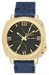 Men's Vince Camuto Multifunction Leather Strap Watch 43Mm
