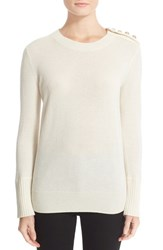 Burberry Women's Meesebrook Cashmere Sweater Natural White