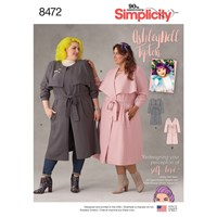 Simplicity Plus Ashley Nell Tipton's Coat Sewing Pattern 8472