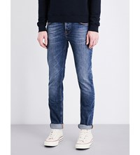 Nudie Jeans Grim Tim Regular Fit Straight Leg Shaded Blue