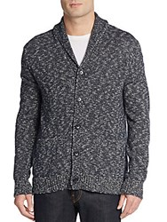 Vince Cotton And Linen Shawl Collar Cardigan Coastal Blue