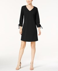 Nine West Tie Sleeve Shift Dress Black
