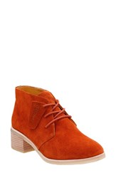 Clarksr Women's Clarks 'Phenia Carnaby' Ankle Boot Rust Vintage Suede
