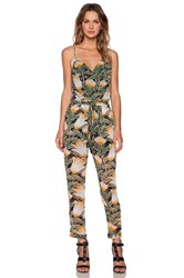 Shades Of Grey Spaghetti Strap Jumpsuit Green