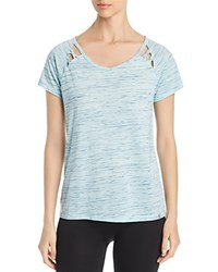 Marc New York Performance Space Dyed Cutout Tee Clear Water