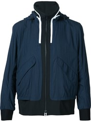 Tim Coppens 'Ma 1' Hooded Bomber Blue