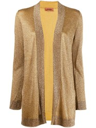 Missoni Open Front Cardigan Yellow