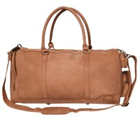 Mahi Leather Columbus Holdall Duffle Weekend Overnight Bag In Vintage Cognac Neutrals