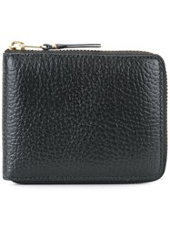 Comme Des Garcons Wallet Zipped Around Wallet Black