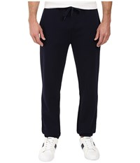 Lacoste Sport Fleece Pants With Elastic Leg Opening Navy Blue Men's Casual Pants