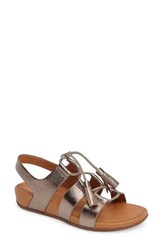 Fitflop Women's Gladdie Lace Up Sandal Bronze Leather
