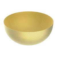 Alessi Round Textured Basket Brass
