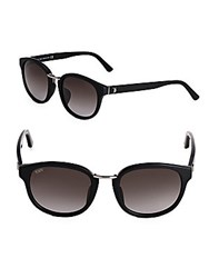 Tod's 54Mm Rounded Sunglasses Black