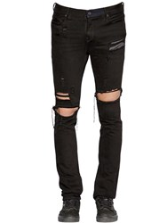 Rta 16.5Cm Print Destroyed Denim Jeans Black