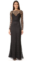 Camilla And Marc Cornelli Lace Gown Jet Black