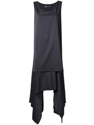 Max Tan 'Austere Handkerchief' Dress Black