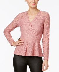 Thalia Sodi Lace Peplum Top Only At Macy's Mesa Rose