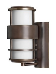Hinkley Saturn Outdoor Wall Light 1900Mt Small 12 In H Metro Bronze Incandescent Silver