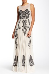 Biya Embroidered Lace Maxi Dress Multi