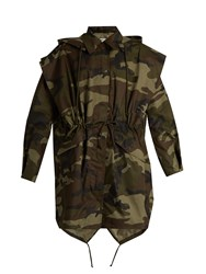 Maison Martin Margiela Camouflage Print Hooded Cotton Jacket