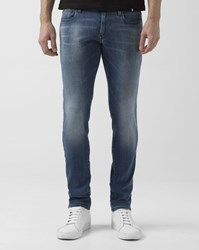 G Star Revend Blue Faded Super Slim Jeans