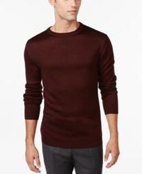Ryan Seacrest Distinction Plaid Crew Neck Sweater Only At Macy's