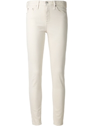 Adriano Goldschmied High Rise Skinny Jeans White