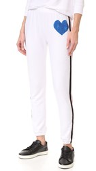 Wildfox Couture Classic Heart Bottoms Sweats Clean White