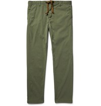 Remi Relief Lim Fit Drawtring Wahed Twill Trouer Army Green