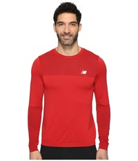 New Balance M4m Seamless Long Sleeve Top Atomic Men's Long Sleeve Pullover Navy