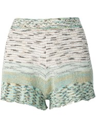 Missoni Knitted Shorts Blue