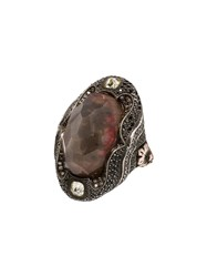 Sevan Bicakci Moonstone And Diamond Ring Red