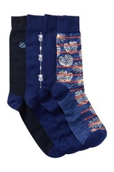 Tommy Bahama Deep Space Crew Socks Pack Of 4 Blue
