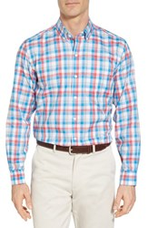 Cutter And Buck 'S Big Tall Dylan Classic Fit Easy Care Check Sport Shirt Poolside
