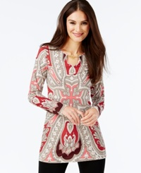 Inc International Concepts Chain Toggle Printed Tunic Only At Macy's