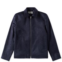 Our Legacy Splash Pressed Cilium Coach Jacket Blue