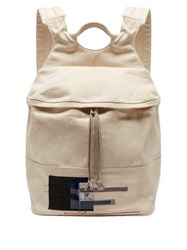 Rick Owens Drkshdw Photographic Patch Canvas Backpack Beige