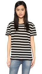 R 13 Boy Striped Tee Black W White Judy Stripe