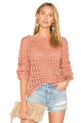 Ayni Pozo Crew Neck Sweater Coral